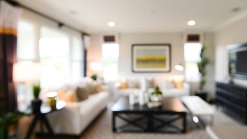 Blurry living room